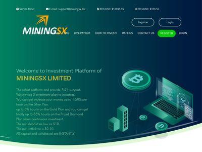 [SCAM] miningsx.biz - Min 10$ (Hourly for 96 hours) RCB 80% Miningsx.biz