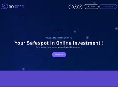 [SCAM] myearn.io - Min 5$ (Daily for 15 days) RCB 80% Myearn.io