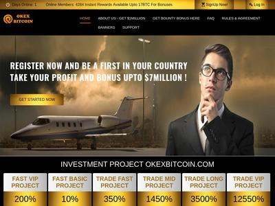 [SCAM] OKEXBITCOIN - okexbitcoin.com - Refback 80% - Hourly For 15 Horas - Entrada 5$ Okexbitcoin.com