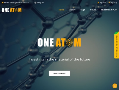 [PAGANDO] ONE ATOM - one-atom.com - RCB 80% - Daily For 30 Days/After 7 Days - Min 10$ One-atom.com