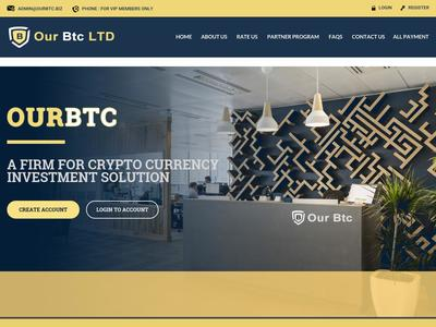[SCAM] ourbtc.biz - Min 1$ (Hourly for 32 Hours) RCB 80% Ourbtc.biz