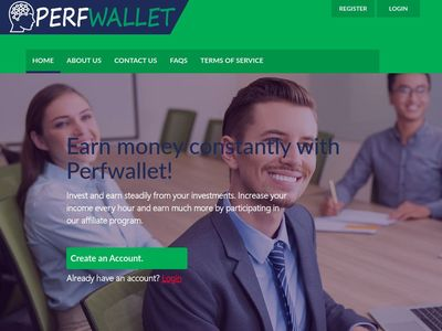 [PAGANDO] perfwallet.biz - Min 5$ (Hourly for 90 Hours) RCB 80% Perfwallet.biz