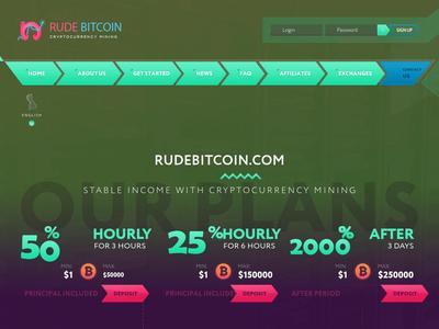 [SCAM] rudebitcoin.com - Min 1$ (Hourly For 3 Hours) RCB 80% Rudebitcoin.com