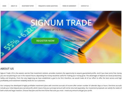 [SCAM] signumtrade.biz - Min 10$ (After 1 Day) RCB 80% Signumtrade.biz