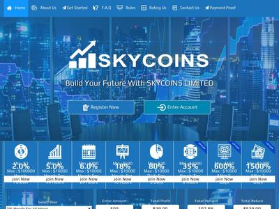 [SCAM] skycoins.biz - Min 1$ (Hourly For 44 Hours) RCB 80% Skycoins.biz