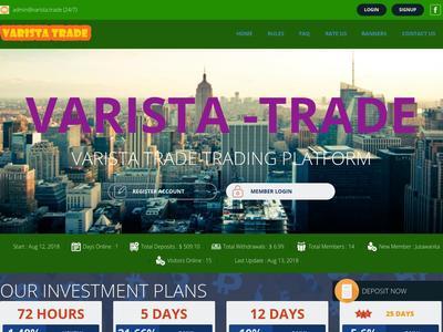 [CERRADA] VARISTA - varista.trade - RCB 80% - Hourly por 72 Horas - Min 5$ Varista.trade