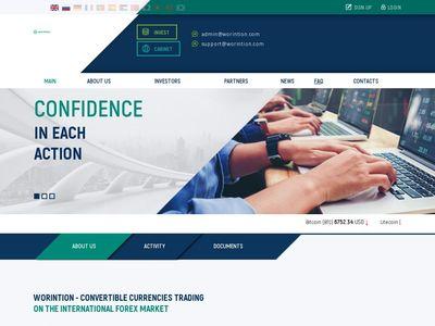 [PAGANDO] worintion.com - Min 10$ (105% For 5 Days) RCB 80% Worintion.com